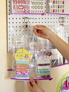 Store Open Embellishments In Resealable Plastic Bags For Easy Access