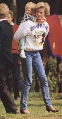 Princess Diana with Harry