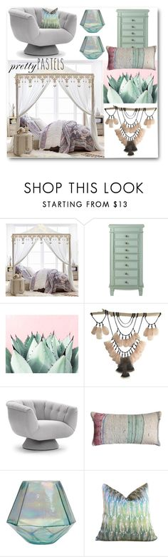 """Pretty Pastels"" by looking-for-a-place-to-happen ❤ liked on Polyvore featuring interior, interiors, interior design, home, home decor, interior decorating, PBteen, Home Decorators Collection, bedroom and bedroomdecor"