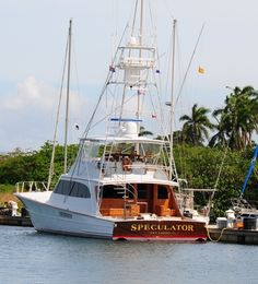 80' Merritt Sportfish SPECULATOR, now available for charter in the Northeast. To…