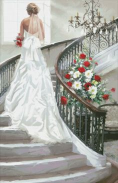 Bridal Staircase [MACNEIL102] - $19.00 : Heaven And Earth Designs, cross stitch, cross stitch patterns, counted cross stitch, christmas stockings, counted cross stitch chart, counted cross stitch designs, cross stitching, patterns, cross stitch art, cross stitch books, how to cross stitch, cross stitch needlework, cross stitch websites, cross stitch crafts
