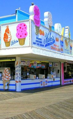 Kohr's Ice Cream on the boardwalk.