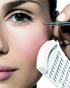 Bobbi Brown on how to apply fake eyelashes and a smoky eye tutorial.
