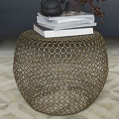 Marlow Round Ring Side Table from West Elm / $199 / 22x18