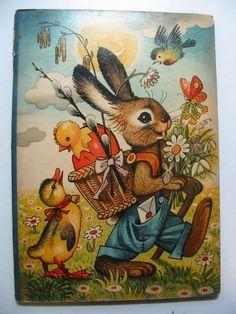 illustration, animal, bird, duck, egg, chick, floral, ILLUSTRATED BY KUBASTA, VOJTECH - Ricky the Rabbit $194