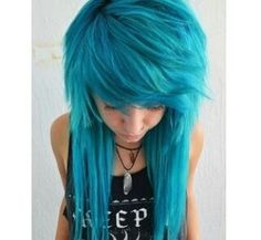 New Hair Dyed Bangs Scene Girls Ideas Twisted Hair, Emo Scene Hair, Scene Girl Hair, Short Scene Hair, Dye My Hair, Crazy Hair, Love Hair, Pretty Hairstyles, Blue Hairstyles