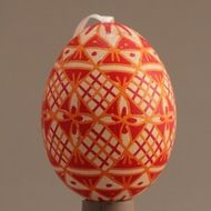 Decorated eggs imported from the Czech Republic. Egg Decorating, Traditional Design, Czech Republic, Christmas Bulbs, Eggs, Orange, Holiday Decor, Handmade, Gifts