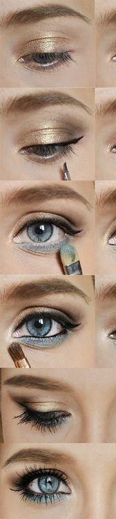 Maquillaje claro para ojos azules