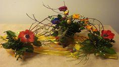 Ostern, Floristik, Blumen, Tischdeko mit Schnittblumen selber machen.