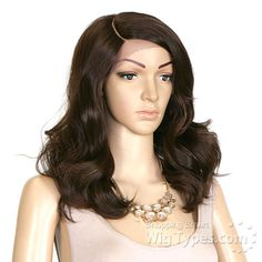 Zury Sis Synthetic Hair Swiss Lace Pre Tweezed Part Wig - SW-LACE H LU - WigTypes.com