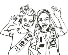 Two Girl Scout Coloring Pages For Kids