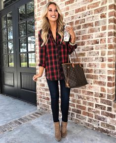 """8,560 Likes, 106 Comments - Emily Herren (@champagneandchanel) on Instagram: """"The coziest flannel (under $30) from @nordstromrack for today's #ootd! And all sizes are in stock…"""""""