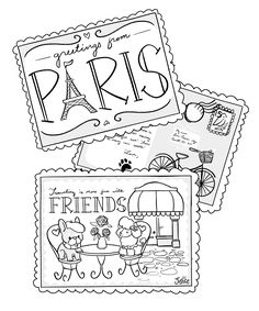Feeling creative? Oui oui! Print this coloring page and