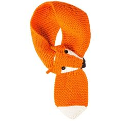 Hand-Knitted Fox Scarf Orange (595 NOK) ❤ liked on Polyvore featuring accessories, scarves, tootsa macginty, orange scarves, orange shawl, fox shawl, hand knitted shawl и hand knit shawl