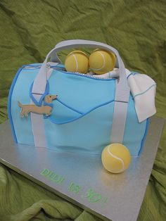 New England Golf and Tennis Camp in Maine, combines the professional training of a golf & tennis specialty camp with the fun of a traditional summer camp. Tennis Cake, Tennis Party, Bag Cake, Sport Cakes, Novelty Cakes, Love Cake, Bridal Shower Games, Creative Cakes, Cupcake Cookies