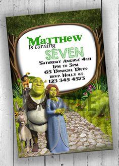 Shrek Party Invitation Kids Party by PartyPrintableInvite on Etsy