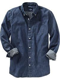 Men's Slim-Fit Denim Shirts