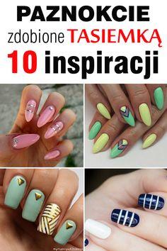 10 propozycji na manicure przy użyciu tasiemki do paznokci