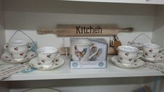 Lovely shabby chic & vintage accessories for the kitchen now available at Bygone Bygone Times, Eccleston, Lancashire Shabby Chic Kitchen Accessories, Vintage Accessories, Times
