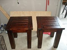 DIY End Tables & Coffee Table