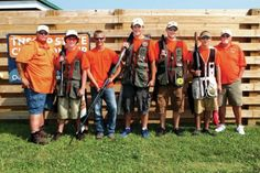 The Hawkeyes' trap shooting team recently finished seventh at the Tennessee Scholastic Clay Target Program's state championships in Nashville. Pictured from left are, Coach Steve Miller, Caleb Lindsey, Hunter Talley, Jake Townsend, Scott Burke, Tanner White and Coach Wayne Townsend.