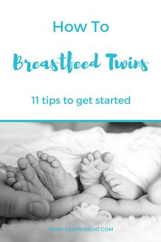 Nursing twins can be tough at first, but it is possible.  Here are 11 tips for breastfeeding twins.  #twins #breastfeeding