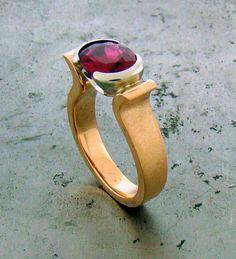 Pink Tourmaline Ring by William Travis Jewelry