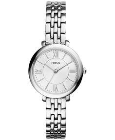 Fossil Women's Jacqueline Stainless Steel Bracelet Watch 26mm ES3797