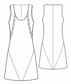 In bright cottons perhaps.   #5461 Sundress with shaped relieve. Free pattern from Modern Sewing Patterns.