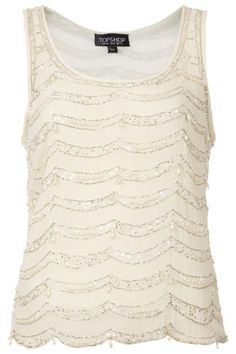 Pearl Embellished Vest - Great Gatsby-ish