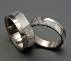 Smoke and Mirrors | Titanium Rings | Minter + Richter
