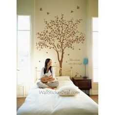 Shelter Trees And Birds Wall Stickers
