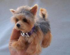 OOAK Realistic Miniature Yorkshire Terrier Yorkie Dog Malga