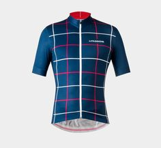 Summer Jersey Square Blue | La Passione Cycling Couture