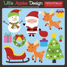 Christmas ClipArt / Christmas Clip Art / Santa Clip by DreamyDuck