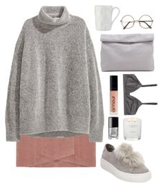 """""""Untitled #1980"""" by katerina-rampota ❤ liked on Polyvore featuring H&M, Steve Madden, Chanel, The White Company, ZeroUV, Kate Spade, Marie Turnor and Monki"""