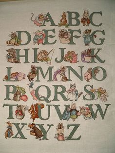 Beatrix Potter alphabet sampler