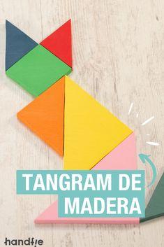 ¿A ti también te encantan los rompecabezas? Mira cómo hacer un tangram paso a paso con madera y pintura de colores #diy #tangram #diymadera #dremel #tutorialtangram Dremel, Diy, Home Decor, Wood Boards, Paint Colors, Puzzles, Easy Crafts, Powerful Quotes, How To Make