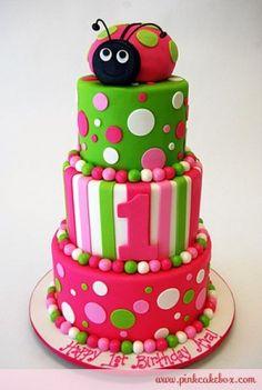 Ladybug Themed Birthday Cake by 1969ChevyBaby