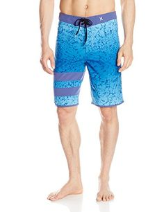 Hurley Mens Force 2 Printed Phantom  Boardshort Horizon Blue 32 * Detailed information can be found by clicking on the VISIT button