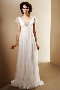 Dowton Abbey-esque wedding dress... I sure have been liking the look of the 19teens clothing lately.... hmmm