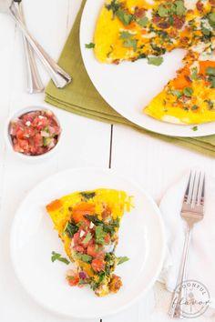 Chorizo, Kale and Sweet Potato Frittata