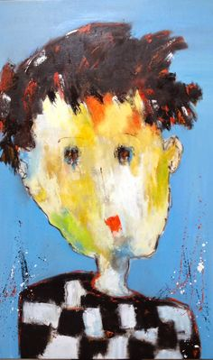 See related links to what you are looking for. Expressionist Portraits, Abstract Face Art, Abstract Paintings, Art Fantaisiste, Naive Art, Outsider Art, Acrylic Art, Portrait Art, Contemporary Paintings