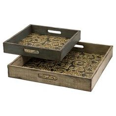 As seen on HGTV's Flipping the Block, Episode 5 – The Guest Room: 2-Piece Corinne Tray Set