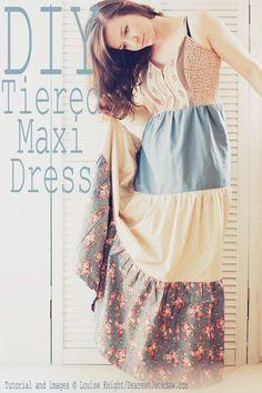TUTORIAL - Old Vest to Tiered Maxi Dress | Dearest Jackdaw