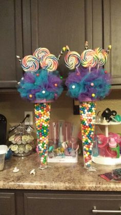 33 best candy table centerpieces images in 2019 rh pinterest com candy centerpiece ideas for birthday party candy themed decorations for birthday party