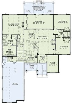 Rustic Brick Ranch Home With Sunroom Ranch Floor Master Suite Butler Walkin Pantry CAD Available DenOfficeLibraryStudy PDF Split Bedrooms Corner Lot Archit. Mountain House Plans, Ranch House Plans, Mountain Homes, Dream House Plans, House Floor Plans, Rambler House Plans, The Plan, How To Plan, Plan Plan
