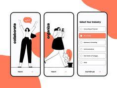 Planning & Collaboration App Walkthrough and Form by Semas Web Design, Form Design, App Ui Design, User Interface Design, Graphic Design, Design Layouts, App Design Inspiration, Daily Inspiration, Communication
