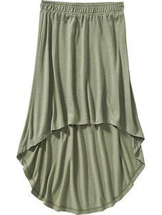 Girls Hi-Lo Jersey Skirts