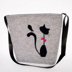 Filcowa torba na ramię 2 - Fizka-hand-made - Torebki
